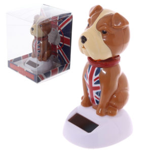 Fun UK Bulldog Solar Powered Solar Pal