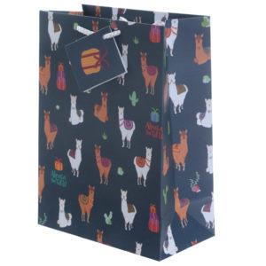 Funky Alpaca Design Medium Glossy Gift Bag