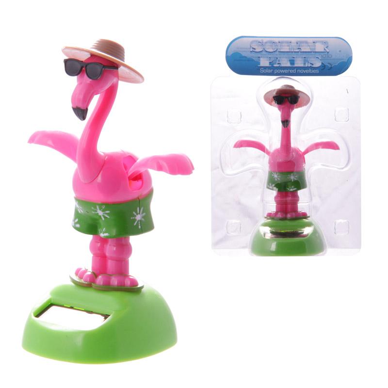 Funky Flamingo Wearing Sunglasses Solar Pal