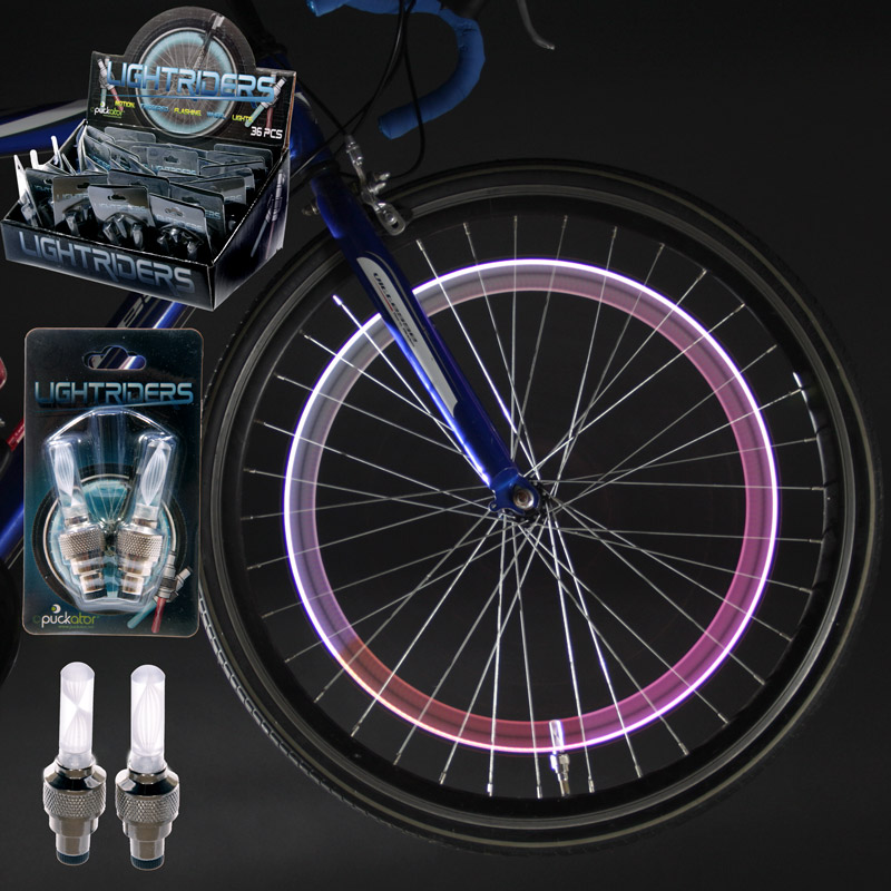 Funky Light Up Bicycle Tyre Valve Set of 2