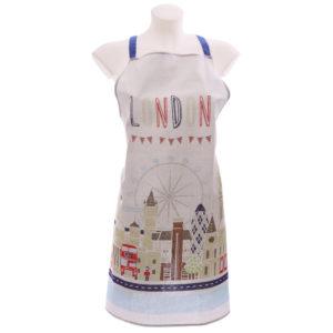 Funky London Map Design Cotton Apron