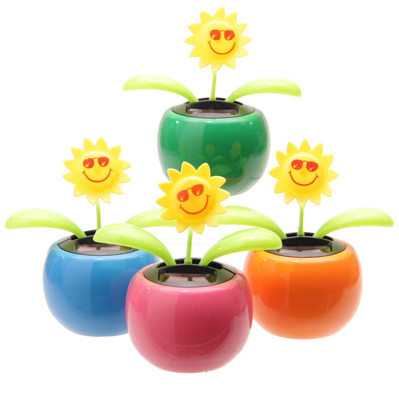 Funky Sunflower Design Solar Pal