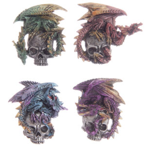 Gothic Dragon Skull Magnet