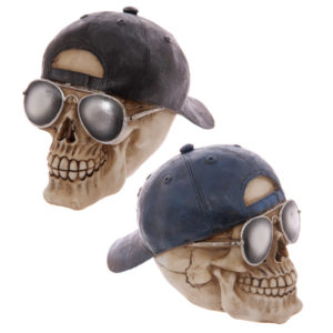 Gruesome Skull Baseball Cap Ornament