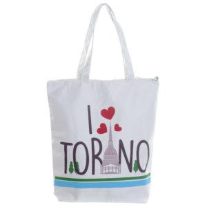 Handy Cotton Zip Up Shopping Bag - I Heart Torino