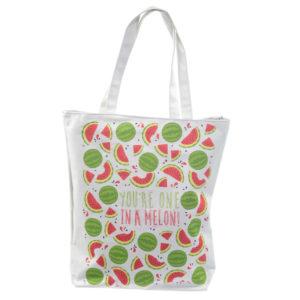 Handy Cotton Zip Up Shopping Bag - Watermelon