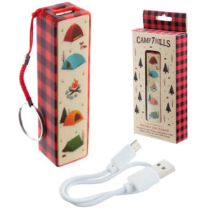 Handy Portable USB Power Bank - Camping Design