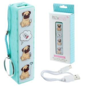 Handy Portable USB Power Bank - Pug Design