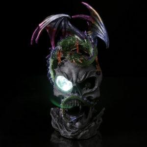 LED Crystal Eye Dark Legends Dragon Figurine