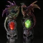 LED Skull Emblem Dark Legends Dragon Figurine