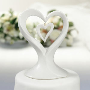 Porcelain Double Heart Cake topPorcelain Double Heart Cake top
