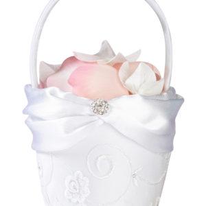White Lace Flower BasketWhite Lace Flower Basket