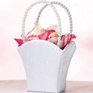Elegant Wedding Basket WhiteElegant Wedding Basket White
