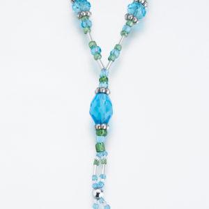 Set of 2 Bead Foot Jewellery AquaSet of 2 Bead Foot Jewellery Aqua