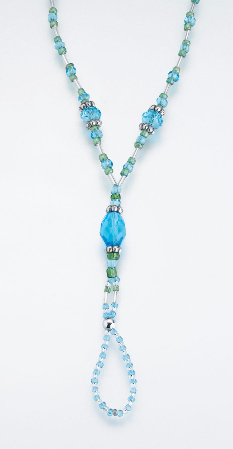 Set of 2 Bead Foot Jewellery Aqua