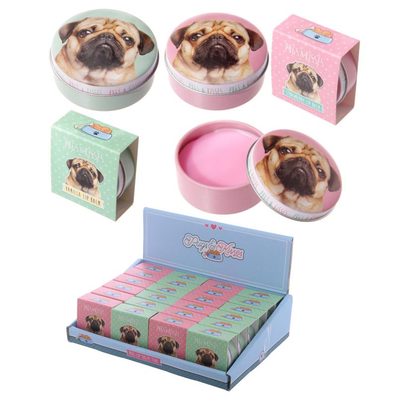 Lip Balm Tin - Cute Pug Design