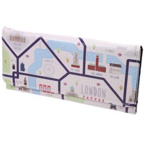 London Map Large Fabric Purse
