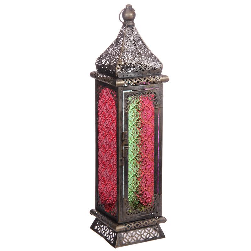 Moroccan Style Lantern - Brushed Silver Medium
