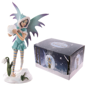Mystic Realms Collection Fantasy Snow Fairy with Giant Snowball