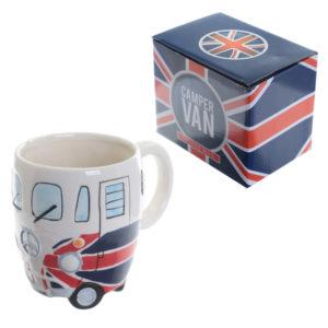 Novelty Camper Van Union Flag Ceramic Mug
