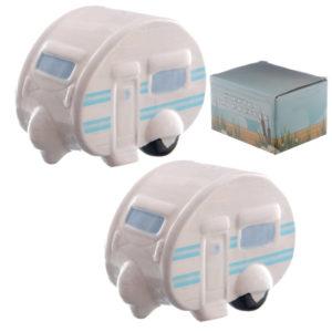 Novelty Ceramic Caravan Salt and Pepper Set