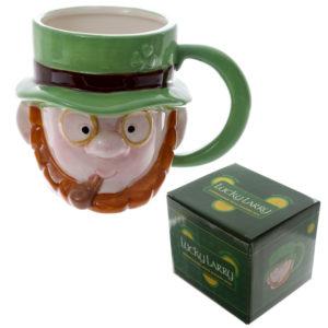 Novelty Ceramic Leprechaun Head Ceramic Mug