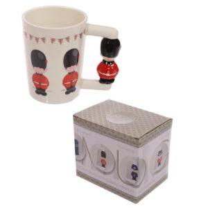 Novelty Ceramic Mug with Guardsman Handle