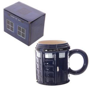 Novelty Ceramic Police Box Mug