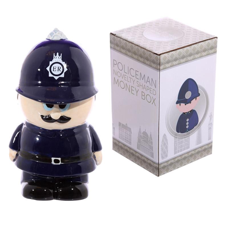 Novelty Ceramic Policeman Money Box