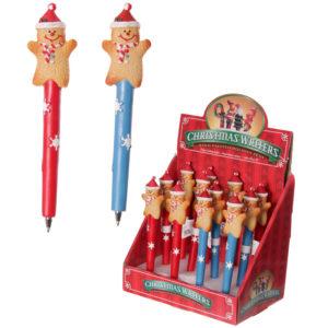 Novelty Christmas Pen - Gingerbread Men