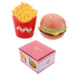 Novelty Fast Food Burger and Fries Salt and Pepper Set