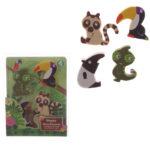 Novelty Kids Rainforest Design Eraser Set