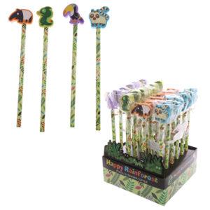 Novelty Kids Rainforest Design Pencil and Eraser