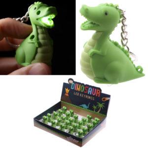Novelty LED Keyring - Dinosaur