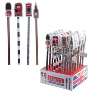 Novelty London Design Pencil and Eraser Set