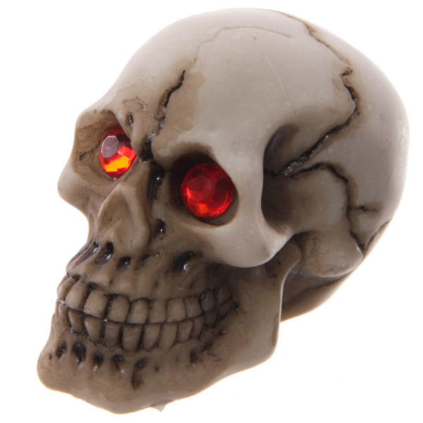 Novelty Red Eyed Skull Decoration