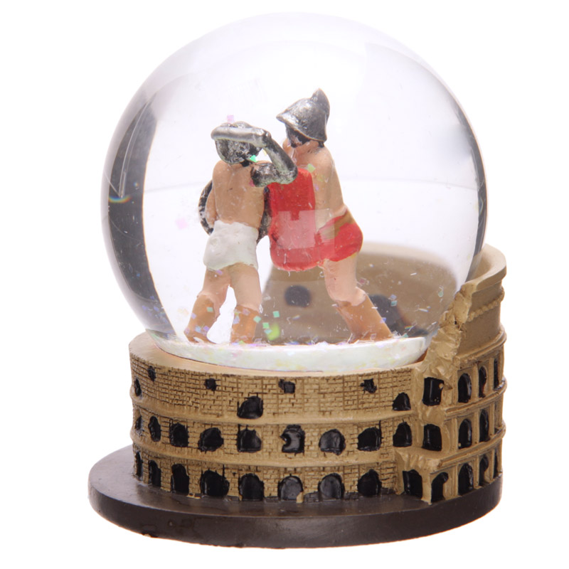 Novelty Roman Waterball with Gladiators and Coliseum