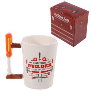 Novelty Shaped Handle Ceramic Tool Mug - Screwdriver