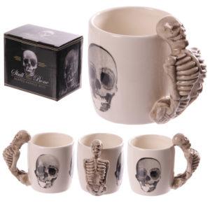 Novelty Skeleton Design Shaped Handle Mug