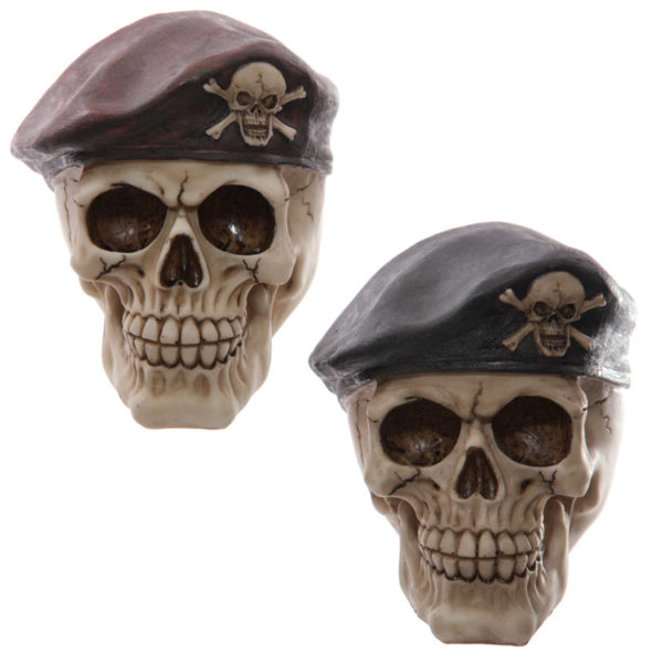 Novelty Skull in Beret Ornament