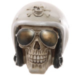 Novelty Skull with Sun Glasses and Helmet Ornament