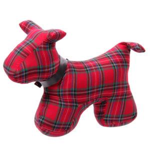 Polyester Door Stop - Tartan Scottie Dog