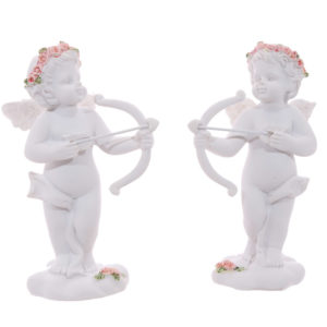 Rose Cherubs - Bow and Arrow Figurine