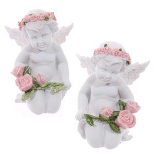 Rose Cherubs - Holding Roses