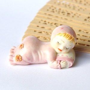 Resin Baby Sleeping in PinkResin Baby Sleeping in Pink