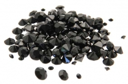 Diamond Confetti Black Assorted Sizes 12mm 9mm 5mm