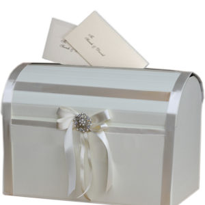 Ivory Elegant Wedding Card Post BoxIvory Elegant Wedding Card Post Box