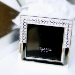 Silvertown Collection Elegant Silver Finished Jewelled Frame 2x2Silvertown Collection Elegant Silver Finished Jewelled Frame 2x2