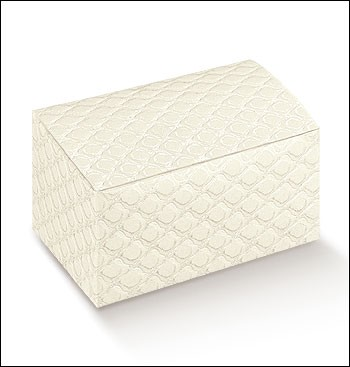Trapunta Quilted Rectangle Box With Folded Lid 115x80x55