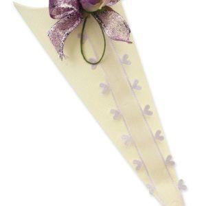 Ivory Silk Confetti ConeIvory Silk Confetti Cone
